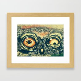 Buho owl animal graffiti drawing Framed Art Print