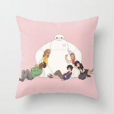 Baymax Snuggles Throw Pillow