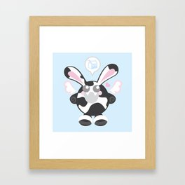Bunbun Cow Framed Art Print