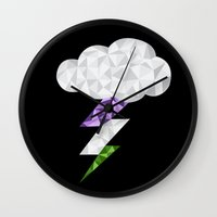 queer Wall Clocks featuring Gender Queer Storm Cloud by Casira Copes