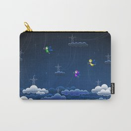 Fascinating Colorful Angel Pixies Creating Weather Fantasy UHD Carry-All Pouch