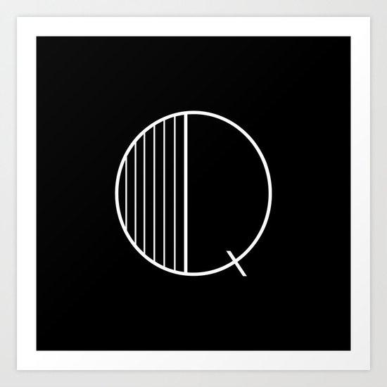 Benthem black Q Art Print