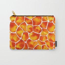 Watercolor Giraffe's Spots (Orange-Yellow) Carry-All Pouch