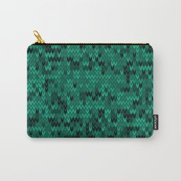 Green knitted textiles Carry-All Pouch