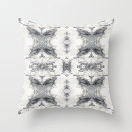 Marbling the stars Throw Pillow