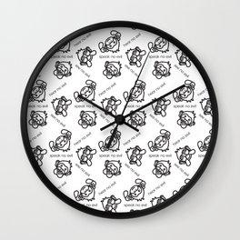See No Evil, Hear No Evil, Speak No Evil Minimal Monkeys Wall Clock