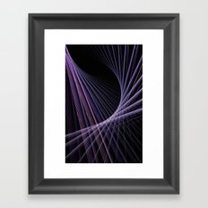 Purple Lines Framed Art Print
