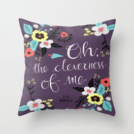 Cleverness of Me Throw Pillow