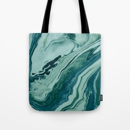 Blue Planet Marble Tote Bag