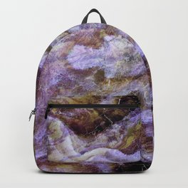 Abstract Mineral Amethyst Crystal Texture Backpack