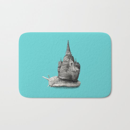 The Snail's Dream (monochrome option) Bath Mat