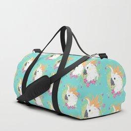 Citron Crested Cockatoo Duffle Bag