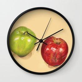 crispy apples Wall Clock