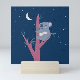 Sleeping Koala in Flowering Gum Mini Art Print