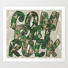 Combat Rock Art Print