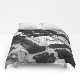 The Bean Cloud Gate Millennium Park Chicago Illinois Black and White Photo Comforters
