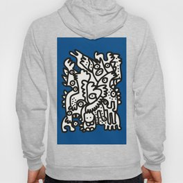 Blue Navy Color 2020 with Black and White Cool Monsters Hoody