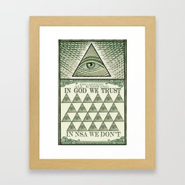 All Knowing Framed Art Print