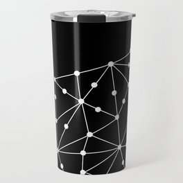 Abstract black and white pattern. Mesh . Travel Mug