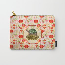 Watercolor Tortoise / Turtle Feng Shui on Bagua Carry-All Pouch