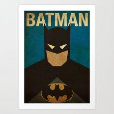 BatMans minimalist Gotham Artwork Art Print
