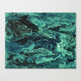 Storm at Sea Teal Canvas Print