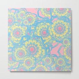Pastel colored daisies Metal Print
