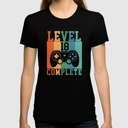 Birthday Level 18 Complete Gaming T-shirt