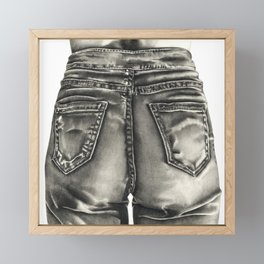 Jeans Framed Mini Art Print