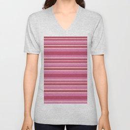 Pink & Yellow Stripes Unisex V-Neck