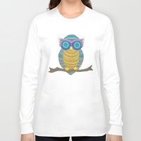 henna Long Sleeve T-shirts featuring Henna Owl by haleyivers