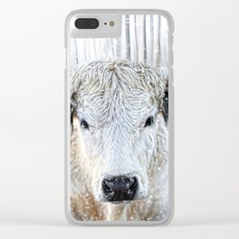 WhitePark Cow Clear iPhone Case