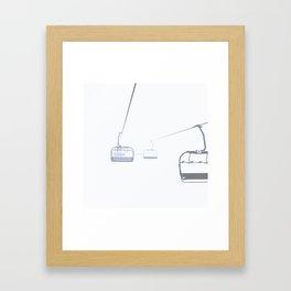 B&W Skilift Poster Framed Art Print