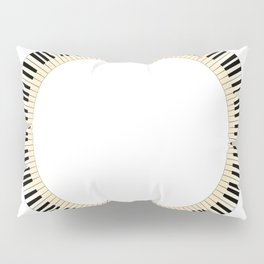 Pianom Keys Circle Pillow Sham