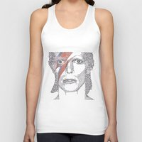 bowie Tank Tops featuring Bowie by S. L. Fina