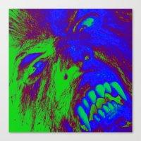 werewolf Canvas Prints featuring Werewolf  by Nikki Hung