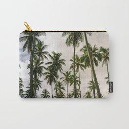 Palm Trees Kauai Hawaii Printable Wall Art | Tropical Beach Nature Ocean Coastal Travel Photography Print Carry-All Pouch