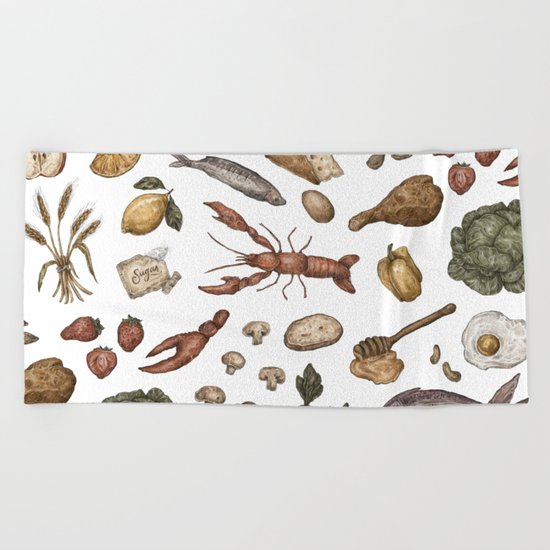 Food Beach Towel