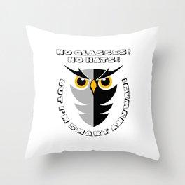 CUTE SMART OWL Throw Pillow