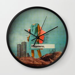 Happiness Here Wall Clock