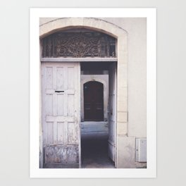 Cottage Doors in Bayeux Art Print