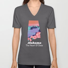 Alabama Proud State Motto The Heart Of Dixie product Unisex V-Neck