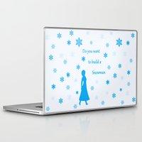 snowman Laptop & iPad Skins featuring Snowman by BlackBlizzard