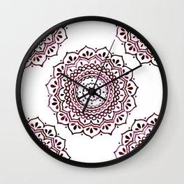 Eggplant Mandala Wall Clock
