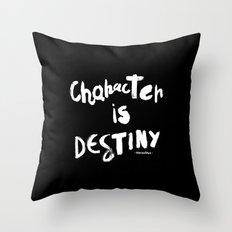 Character Is Destiny - Heraclitus Throw Pillow