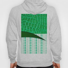 2in1 Pattern Serena green Hoody