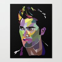 derek hale Canvas Prints featuring Derek Hale Mosaic Portrait by Liz Swezey