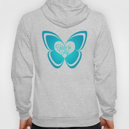 FREE TO FLY butterfly - teal Hoody