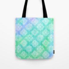 Soft Doodle Pattern in White, Purple, Mint & Aqua Tote Bag