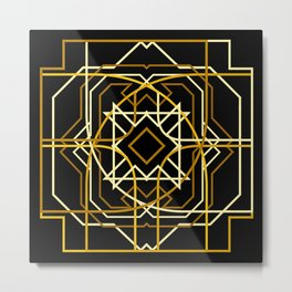 Gold Deco Metal Print